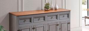 ¡Madera maciza gris en tu decoración!